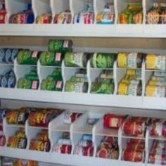 Soup can storage - brilliant idea for pantry shelves - where/how do we get it?