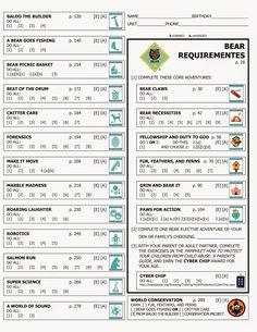 Kara's Cub Stuff: Forms for new cub program Bear rank Cub Scout Games, Cub Scout Activities, Cub Scouts Wolf, Tiger Scouts, Scout Mom, Girl Scouts, Cub Scout Bear Requirements, Cub Scout Crafts, Scout Camping