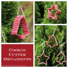easy kid's craft for my storytime kids-  Cookie Cutter Ornaments | A Spoonful of Sugar