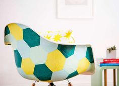 DIY Decoupage Chair. Such a cool idea to give an old chair new life.