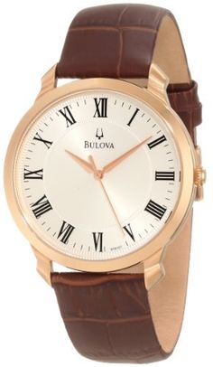 Bulova Men's 97A107 Strap Watch Bulova. $168.75. Stainless steel case and strap. Silver/white dial. Flat mineral crystal. Water-resistant to 30 M (99 feet). Quartz movement