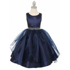 Navy Party Dress | Girls party Dress | Flowergirl Dress