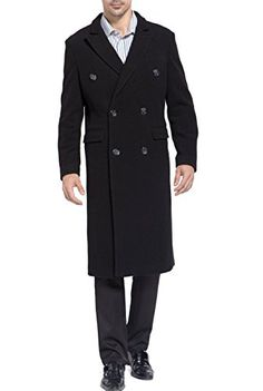 BGSD Men's 'Josh' Wool Blend Double Breasted Walking Coat - M BGSD ++ You can get best price to buy this with big discount just for you.++