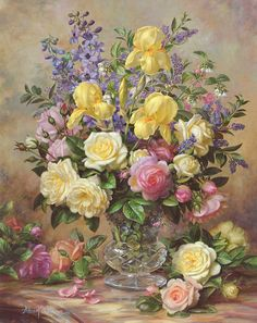 June's Floral Glory Painting by Albert Williams