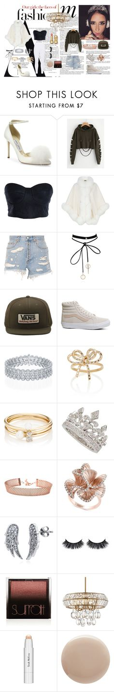 """""Being Extra"" Inspired by Amber Scholl"" by michellekayla ❤ liked on Polyvore featuring Whiteley, Jimmy Choo, Parlor, Harrods, Gucci, WithChic, Vans, Hueb, Loren Stewart and Effy Jewelry"