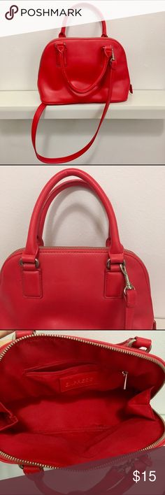 2e1a4ef10d9 Express Red Mini Satchel Bag with Removable Strap Never used, clean,  Express mini satchel