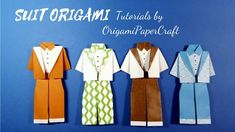 How to make a SUIT Origami 🕴️ Tutorial By OrigamiPaperCraft
