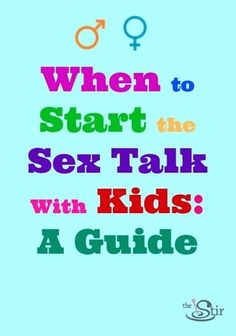 Sex Talk With Our Kids Should Start Right After Potty Training