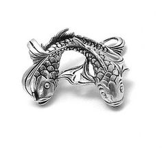 Bling Jewelry Bling Jewelry Sterling Silver Pisces February 19 To... ($18) ❤ liked on Polyvore featuring jewelry, pendants, grey, sterling silver pendant, chain pendants, pendant jewelry, dangling jewelry and long pendant