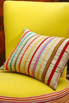 Heavy Deep Cushion Pelmet  Bullion Fringe Trimming Cushions Pelmets Curtains pm