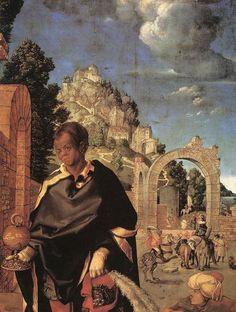 'Adoration (Fragment)' von Albrecht Durer (1471-1528, Germany)