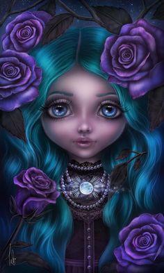 Dreams of Fantasy Dark Gothic Art, Gothic Fantasy Art, Gothic Fairy, Beautiful Fantasy Art, Illustration Fantasy, Estilo Tim Burton, Gothic Wallpaper, Drawn Art, Sugar Skull Art