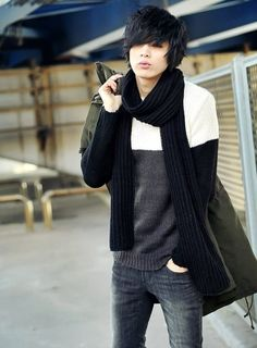 Won Jong Jin... men's casual fall style