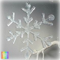 Snowflake Sparkly Christmas Iridescent Fused by RainbowLuxGlass