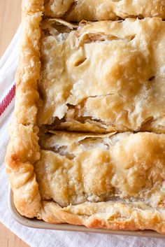Apple Slab Pie with All Butter, Really Flakey Pie Dough