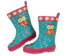 Bonvagon - Çocuk Giyim - Stephen Joseph Kız Çocuk Yağmur Botu - Baykuş