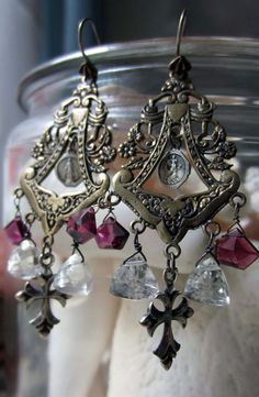 'pyramids of faith' earrings by The French Circus on Etsy