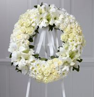 Funeral Flower Arrangements, white and cream sympathy flowers Diy Sympathy Flower Arrangements, Sympathy Flowers, Flower Factory, Asiatic Lilies, Create Picture, Funeral Flowers, Unique Flowers, Carnations, White Roses