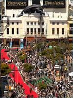 Lord of the Rings world premiere at the Embassy Theatre in Courtenay Place, Wellington, New Zealand.