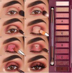 Eye Make-up - Look at another tutorial of eyes for us to train ! Eye Make-up – Olha mais um tutorial de olhos para a gente treinar! E aí gosta… Eye Make-up – Look at another tutorial of eyes for us to train ! Cute Makeup, Glam Makeup, Skin Makeup, Makeup Inspo, Eyeshadow Makeup, Makeup Inspiration, Beauty Makeup, Drugstore Makeup, Eyeshadow Tips