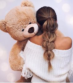 hair, braid, and fashion image Teddy Photos, Teddy Bear Pictures, Bear Pics, Teddy Beer, Big Teddy, Teddy Girl, Stylish Girl Pic, Love Bear, Think