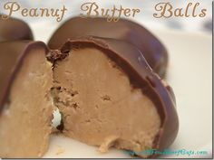 Peanut Butter Balls....Yummy!  These were my Grandmother's special thing to make fo everyone...will have to make some.