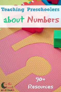 Teaching Preschoolers about Numbers - To the Moon and Back