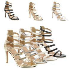 4d978c9fd (eBay Advertisement) Womens Sandals Shoes Stilettos High Heel Buckle Straps  Open Toe Zip Party