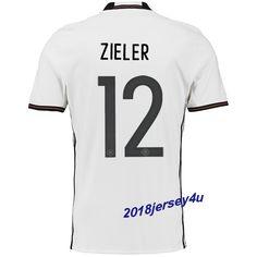 Ron-Robert Zieler 12 UEFA Euro 2016 Germany Home Jersey