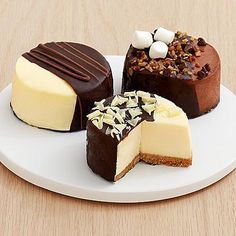 Dipped Cheesecake Trio