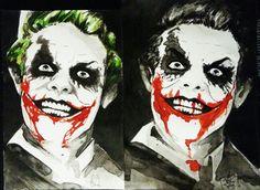 Joker, ledger nicholson fusion. Ink work