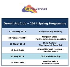 The Orwell Art Club meets on the 3rd Thursday of the month between September and June at the Co-op Education Centre, 11 Fore Street, Ipswich at 7.30pm.  New members are most welcome!  Here are details of some of our previous programmes.