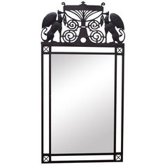 Medieval Gothic Custom Iron Frame Wall Mirror ($795) ❤ liked on Polyvore featuring home, home decor, mirrors, wall mirrors, iron wall mirror, wall hanging mirror, iron mirror and european home decor