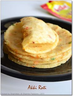 Instant Akki Roti / Masala Rice Roti - (Made with rice flour and coconut.)