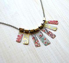 Repurposed tin necklace: