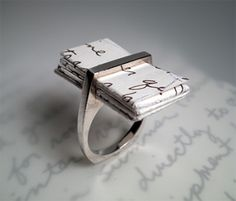 Wearing Words From The Heart. The Love Letter Ring by One Origin.