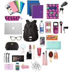 """Whats in My Backpack"" by katiebug500 on Polyvore"