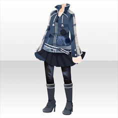 draw the emotions. design the sky. ♪ガチャ@セルフィ「エモーショナル グラフィティ」登場! Punk Outfits, Anime Outfits, Cool Outfits, Fashion Outfits, Character Costumes, Character Outfits, Character Inspiration, Character Design, Anime Uniform