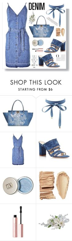"""""""All Denim Head to Toe"""" by fashionfreakforlife on Polyvore featuring Valentino, Charlotte Russe, Vanity Fair, J Brand, Marion Parke, Rika and Too Faced Cosmetics"""