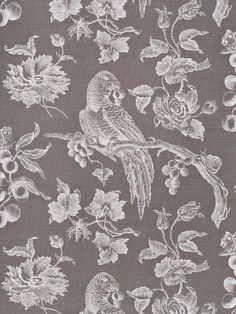 Bennison Great Toile reverse. I wonder if it comes in dark blue. (The scale of this pattern is huge.)