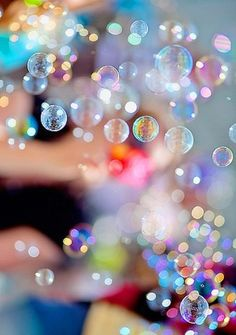 #pink #rainbow #bubbles