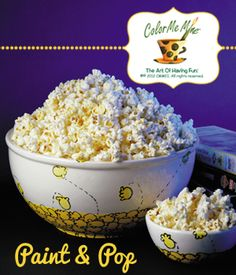 This is absolutely the simplest paint technique.. and so fun! Everyone in the family can make their own popcorn bowl for movie night!