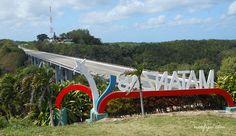 El Puente de #Bacunayagua desde la orilla opuesta al mirador, en la provincia Matanzas