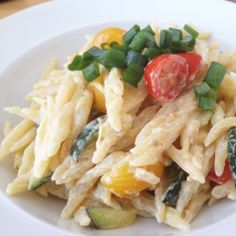 Pasta mit Zucchini – Tomaten – Zitronen Soße - Макароны ...