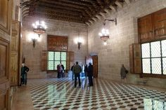 Inside La Lonja de la Seda in Valencia, Spain