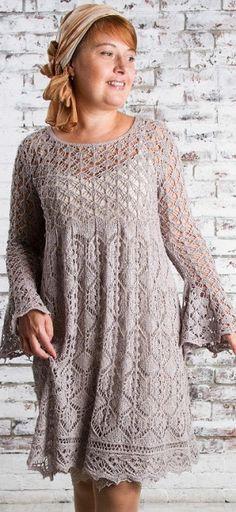 Knitting patterns for openwork dress Knit Dress, Dress Skirt, Lace Dress, Lace Knitting, Knitting Stitches, Knitting Patterns, Crochet Shirt, Knit Crochet, Knit Fashion