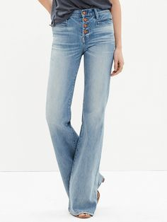 Madewell Flea Market Flares: Button-Front Edition