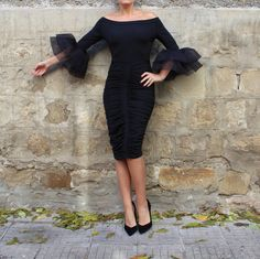 This little black dress is our trade mark for evening clothing! A beautiful cocktail dress, a party dress which can be worn for every special occasion ! Black dress with bodycon fit , this sexy dress is must have dress for every special lady ! Plus sizes are available ! Wear your