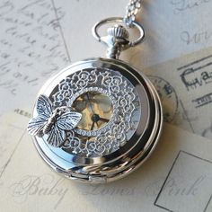 Love these pocket watch necklaces! I'm too picky to decide which style I like the best though...
