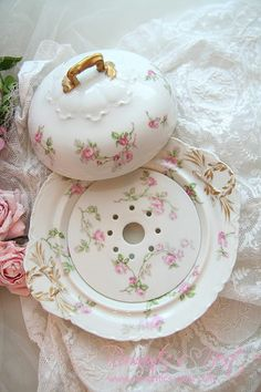 Vintage domed cheese dish